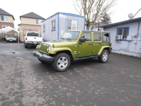 2007 Jeep Wrangler Unlimited for sale at ARISTA CAR COMPANY LLC in Portland OR