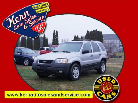 2003 Ford Escape for sale at Kern Auto Sales & Service LLC in Chelsea MI