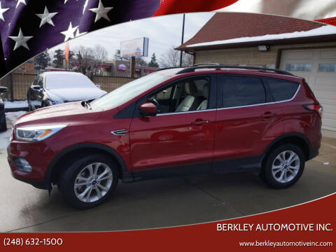 2017 Ford Escape for sale at Berkley Automotive Inc. in Berkley MI
