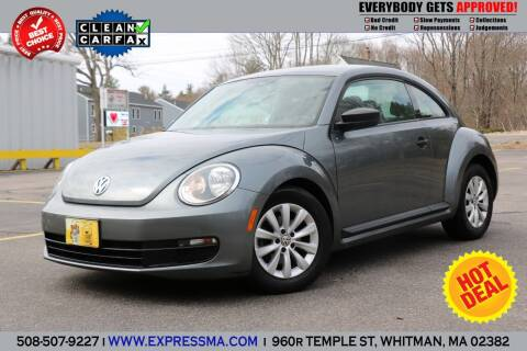 2013 Volkswagen Beetle for sale at Auto Sales Express in Whitman MA