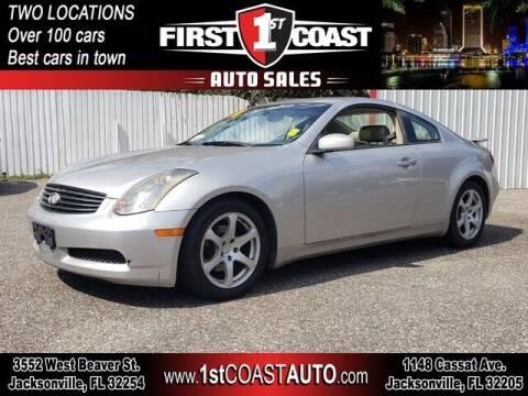 2004 Infiniti G35 for sale at 1st Coast Auto -Cassat Avenue in Jacksonville FL
