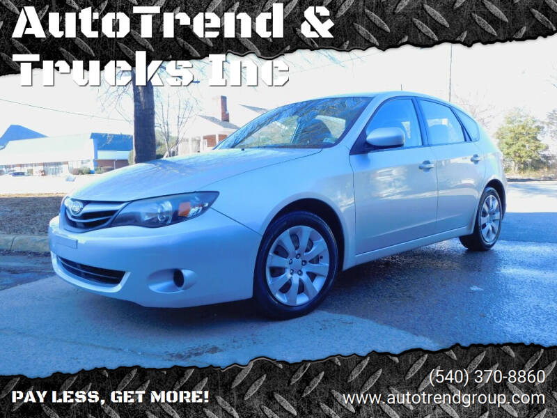 2011 Subaru Impreza for sale at AutoTrend & Trucks Inc in Fredericksburg VA
