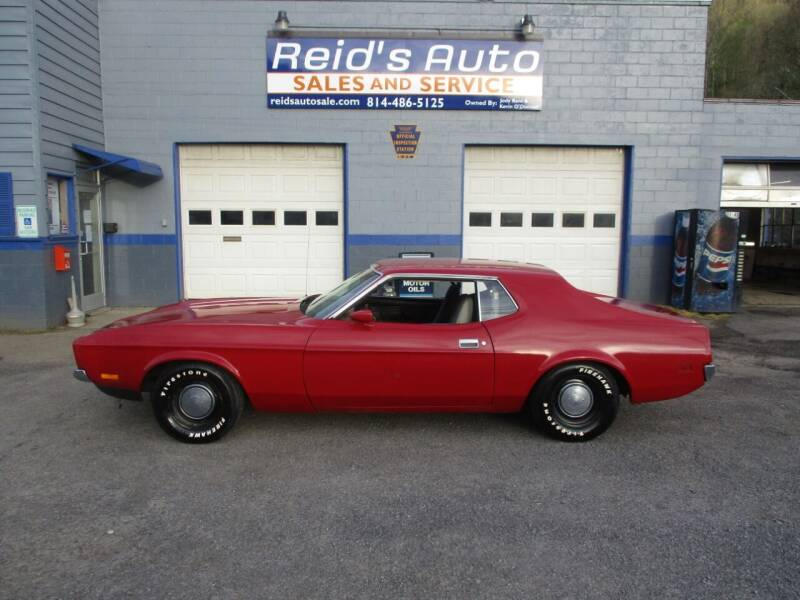 1972 Ford Mustang for sale at Reid's Auto Sales & Service in Emporium PA