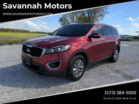 2016 Kia Sorento for sale at Savannah Motors in Elsberry MO