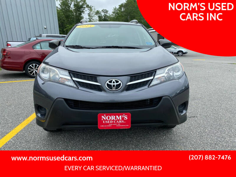 2015 Toyota RAV4 for sale at NORM'S USED CARS INC in Wiscasset ME