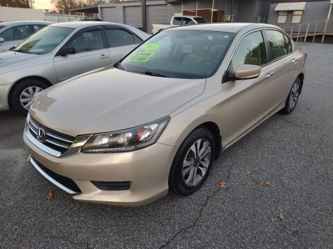 2013 Honda Accord for sale at DON BAILEY AUTO SALES in Phenix City AL