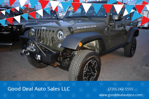 2015 Jeep Wrangler Unlimited for sale at Good Deal Auto Sales LLC in Denver CO