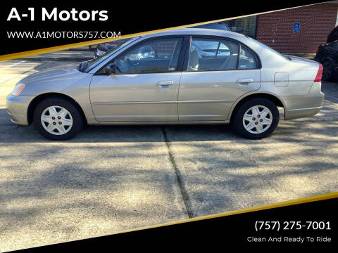 2003 Honda Civic for sale at A-1 Motors in Virginia Beach VA