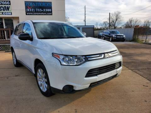 2014 Mitsubishi Outlander for sale at Zora Motors in Houston TX