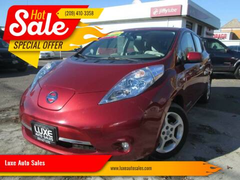 2012 Nissan LEAF for sale at Luxe Auto Sales in Modesto CA