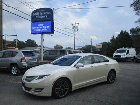 2016 Lincoln MKZ for sale at Mill Street Motors in Worcester MA