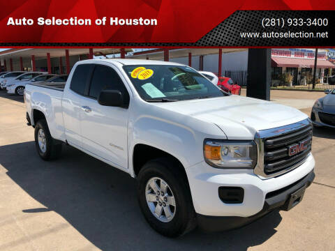 2018 GMC Canyon for sale at Auto Selection of Houston in Houston TX
