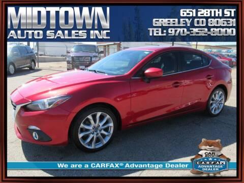2014 Mazda MAZDA3 for sale at MIDTOWN AUTO SALES INC in Greeley CO