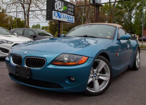 2003 BMW Z4 for sale at EXCLUSIVE MOTORS in Virginia Beach VA