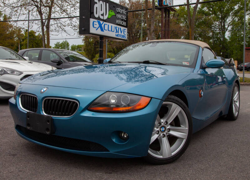 2003 BMW Z4 for sale at EXCLUSIVE MOTORS in Virginia Beach VA