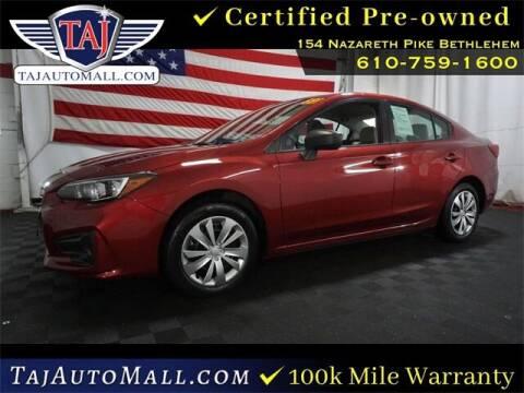 2018 Subaru Impreza for sale at Taj Auto Mall in Bethlehem PA