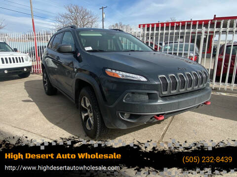 2017 Jeep Cherokee for sale at High Desert Auto Wholesale in Albuquerque NM