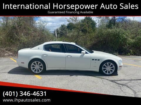 2008 Maserati Quattroporte for sale at International Horsepower Auto Sales in Warwick RI