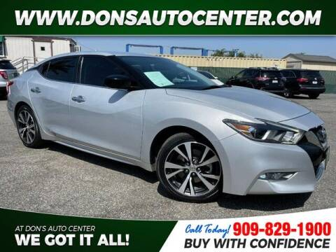 2016 Nissan Maxima for sale at Dons Auto Center in Fontana CA
