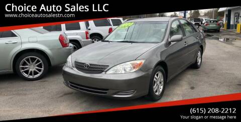 2003 Toyota Camry for sale at Choice Auto Sales LLC - Buy Here Pay Here in White House TN