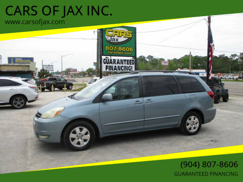 2004 Toyota Sienna for sale at CARS OF JAX INC. in Jacksonville FL