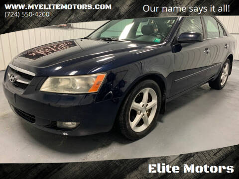 2007 Hyundai Sonata for sale at Elite Motors in Uniontown PA