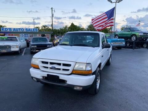 1999 Ford Ranger for sale at KD's Auto Sales in Pompano Beach FL