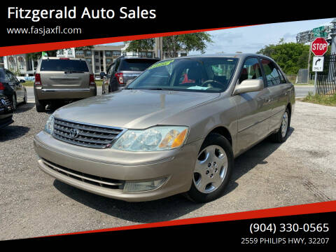2004 Toyota Avalon for sale at Fitzgerald Auto Sales in Jacksonville FL
