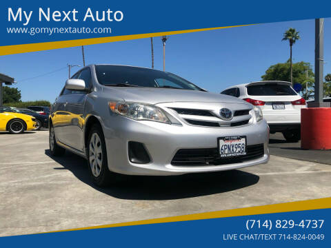 2011 Toyota Corolla for sale at My Next Auto in Anaheim CA