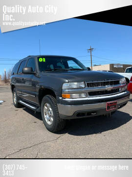 2001 Chevrolet Tahoe for sale at Quality Auto City Inc. in Laramie WY