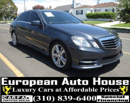2013 Mercedes-Benz E-Class for sale at European Auto House in Los Angeles CA