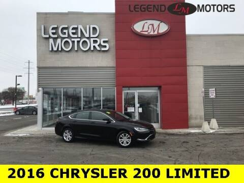 2016 Chrysler 200 for sale at Legend Motors of Waterford - Legend Motors of Ferndale in Ferndale MI