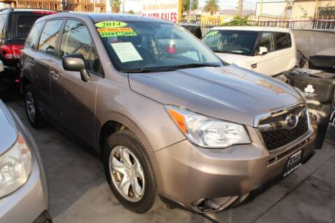 2014 Subaru Forester for sale at FJ Auto Sales in North Hollywood CA