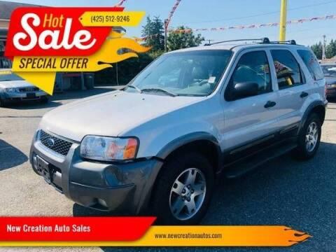 2003 Ford Escape for sale at New Creation Auto Sales in Everett WA