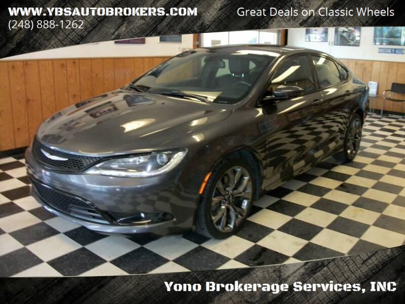 2015 Chrysler 200 for sale at Yono Brokerage Services, INC in Farmington MI