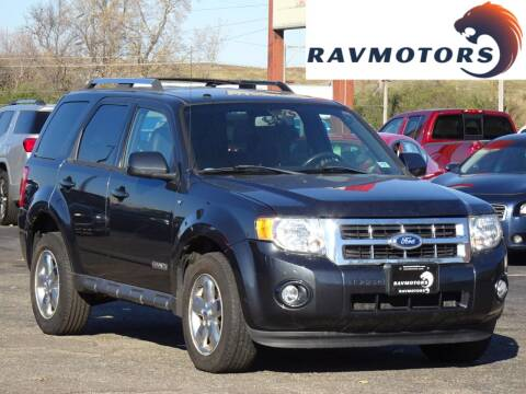 2008 Ford Escape for sale at RAVMOTORS in Burnsville MN