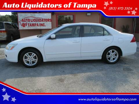 2007 Honda Accord for sale at Auto Liquidators of Tampa in Tampa FL