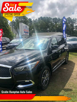 2017 Infiniti QX60 for sale at Gralin Hampton Auto Sales in Summerville SC