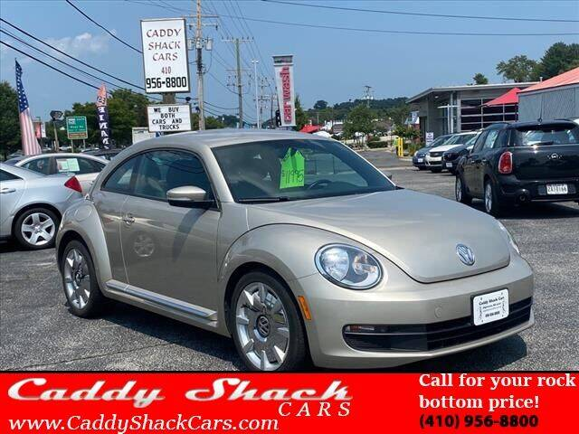 2012 Volkswagen Beetle for sale at CADDY SHACK CARS in Edgewater MD
