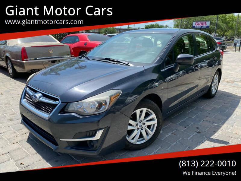 2015 Subaru Impreza for sale at Giant Motor Cars in Tampa FL