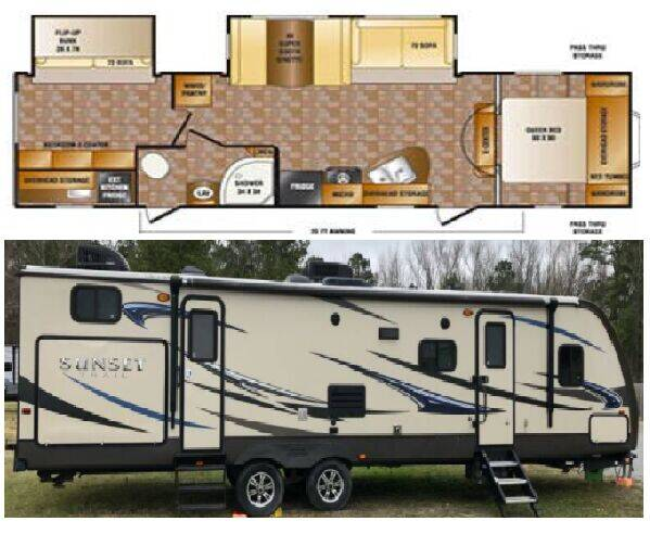 2013 Crossroads Sunset Trail Reserve 32BH for sale at S & M WHEELESTATE SALES INC - Camper in Princeton NC