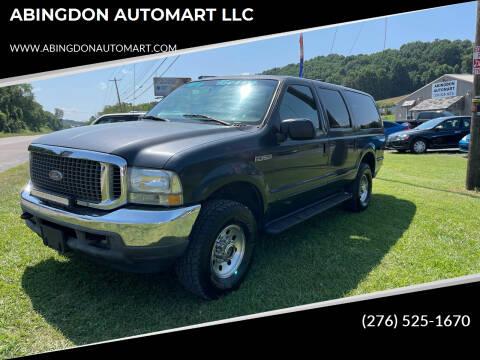 2000 Ford Excursion for sale at ABINGDON AUTOMART LLC in Abingdon VA