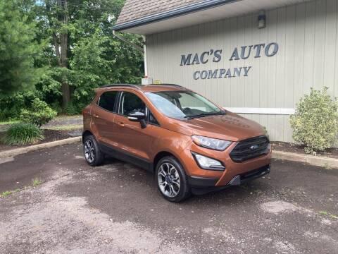 2019 Ford EcoSport for sale at MAC'S AUTO COMPANY in Nanticoke PA