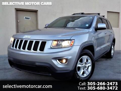 2014 Jeep Grand Cherokee for sale at Selective Motor Cars in Miami FL