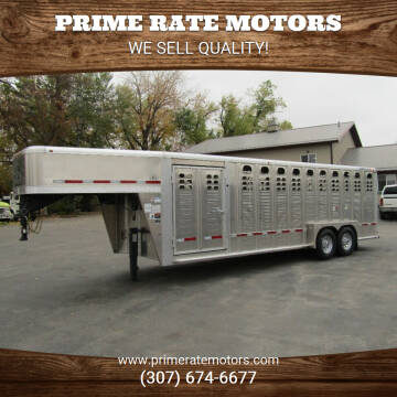2022 WILSON 24FT STOCK TRAILER for sale at PRIME RATE MOTORS in Sheridan WY