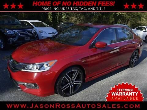 2016 Honda Accord for sale at Jason Ross Auto Sales in Burlington NC