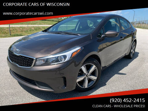 2018 Kia Forte for sale at CORPORATE CARS OF WISCONSIN in Sheboygan WI