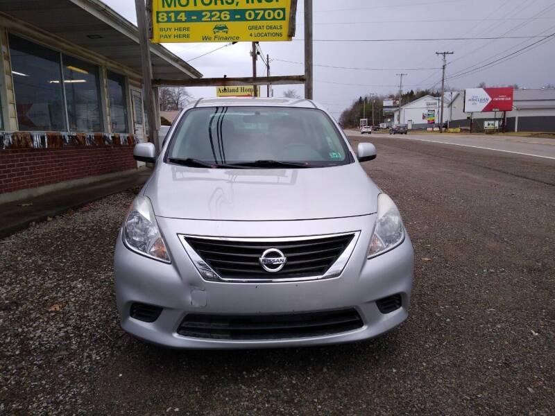 2013 Nissan Versa for sale at Seneca Motors, Inc. (Seneca PA) - SHIPPENVILLE, PA LOCATION in Shippenville PA