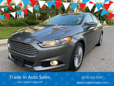 2014 Ford Fusion for sale at Trade In Auto Sales in Van Nuys CA