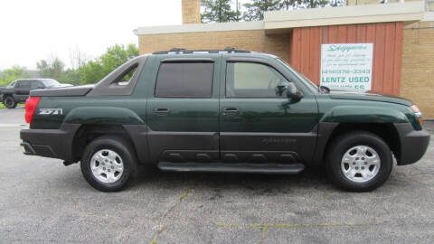 2003 Chevrolet Avalanche for sale at LENTZ USED VEHICLES INC in Waldo WI